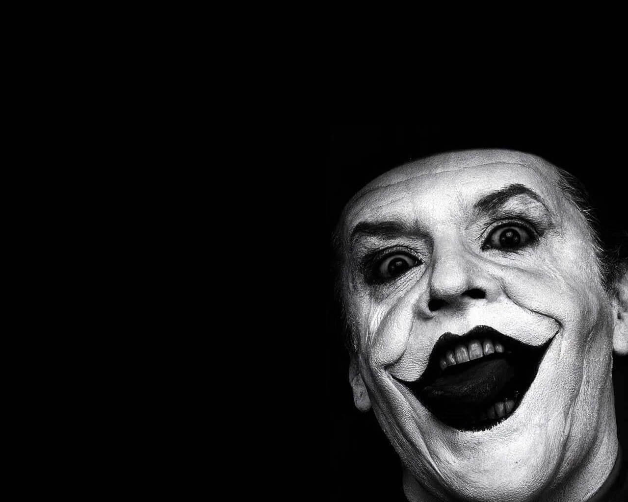 1280x1024pixels Jack Nicholson Joker monochrome