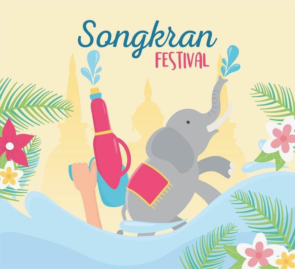 Awesome Songkran festival celebration vector