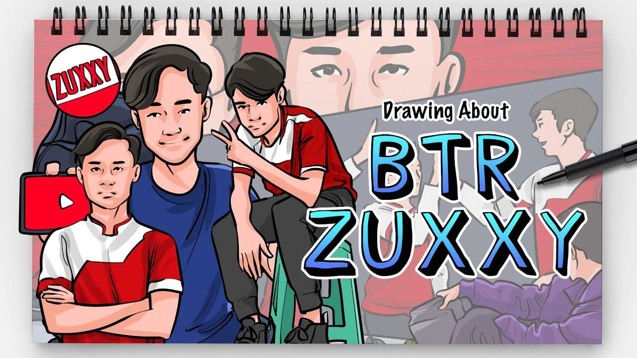 BTR Zuxxy sketch for drawing painting