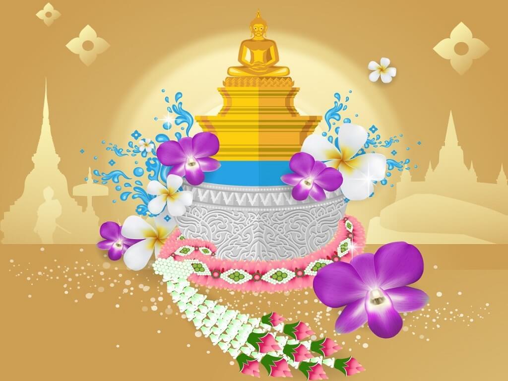Beautiful Songkran images free