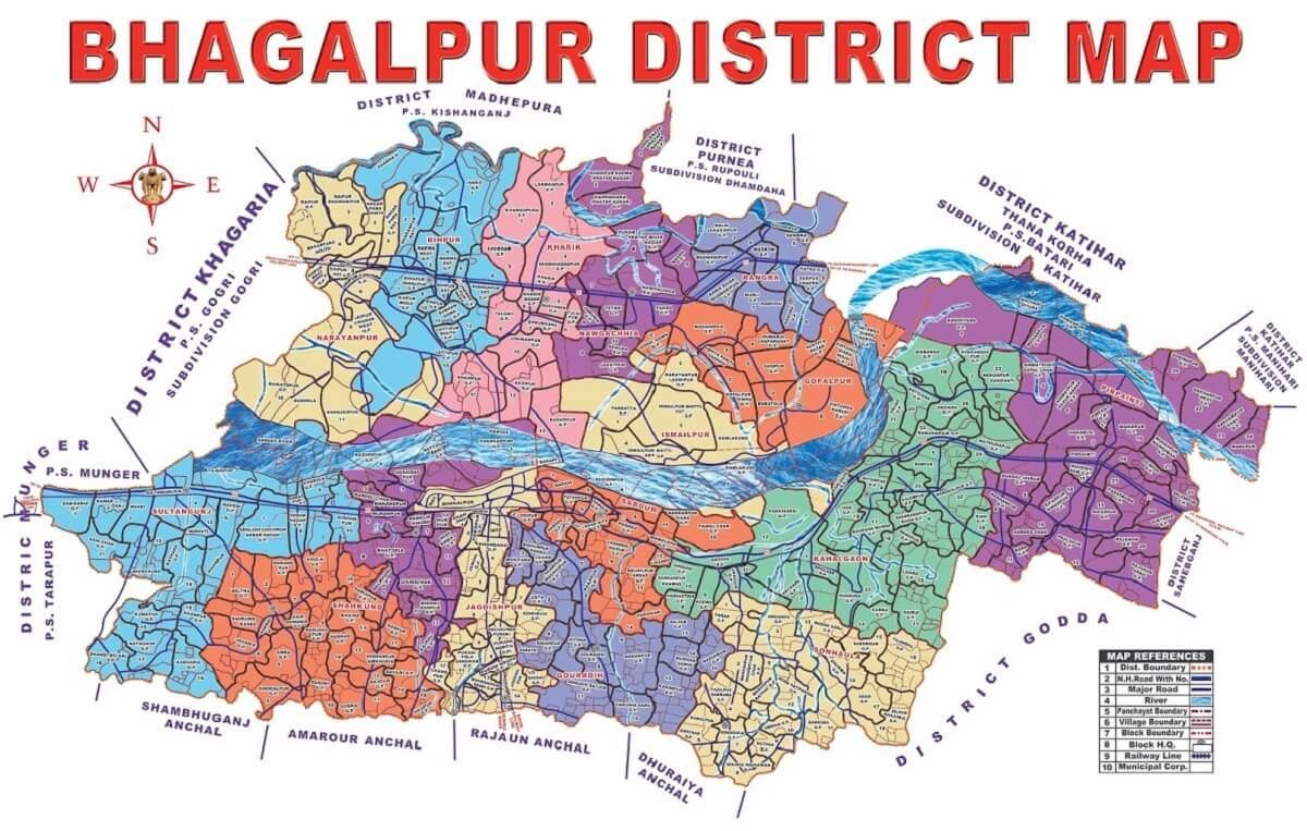Bhagalpur District Map