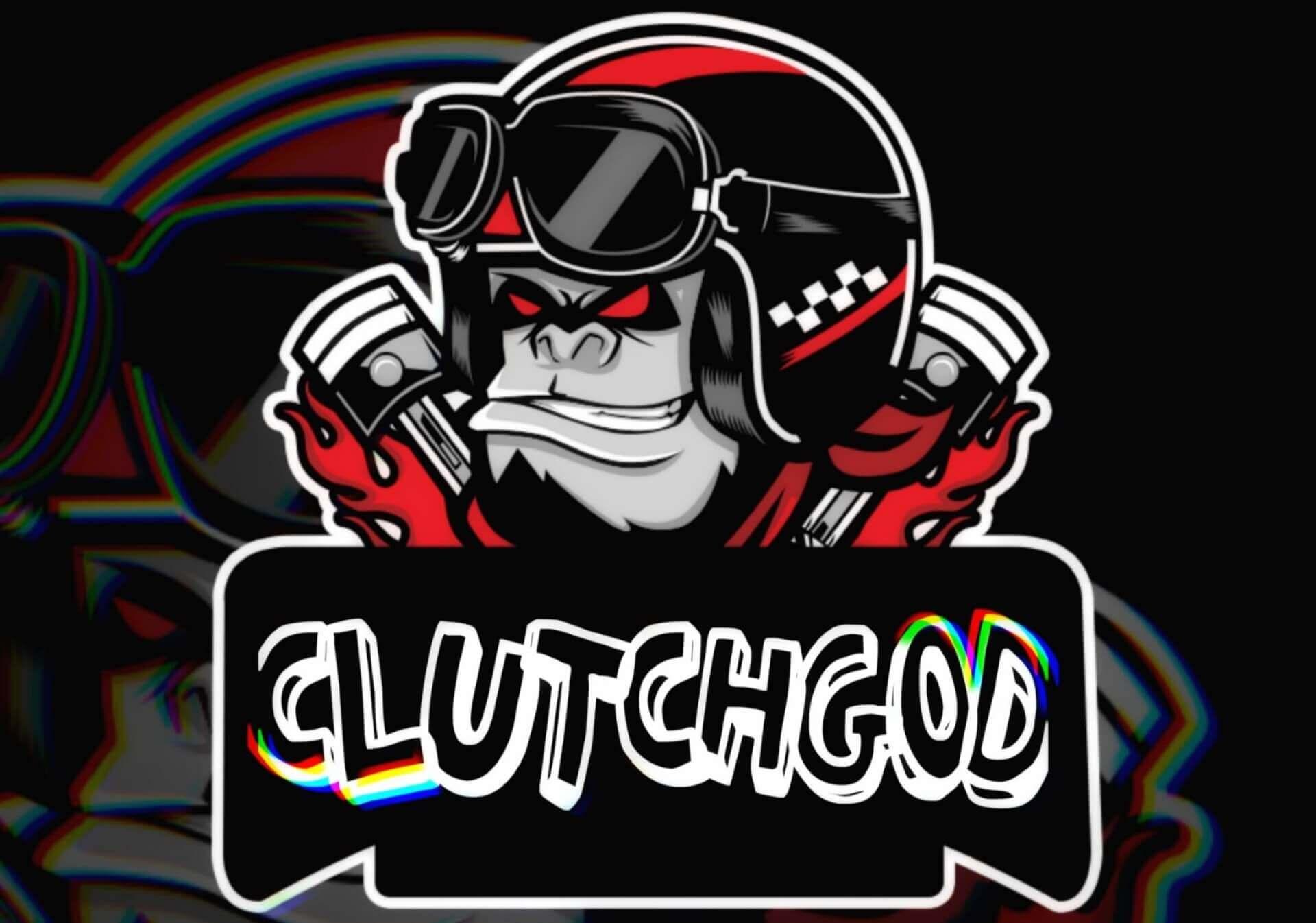 ClutchGod custom cartoon or mascot logo for esports sports pubg HD wallpaper