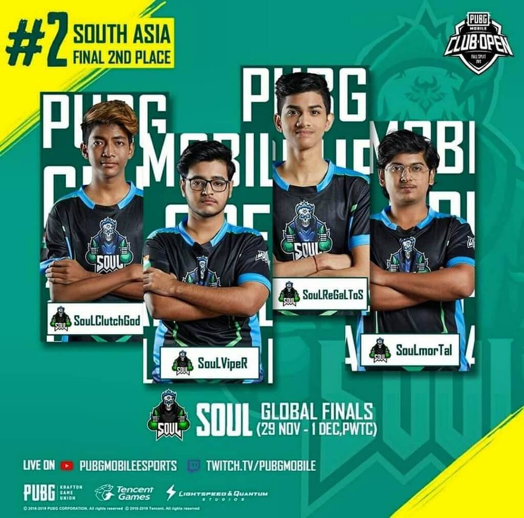 Clutchgod with Team Soul getting 2nd place in tournament