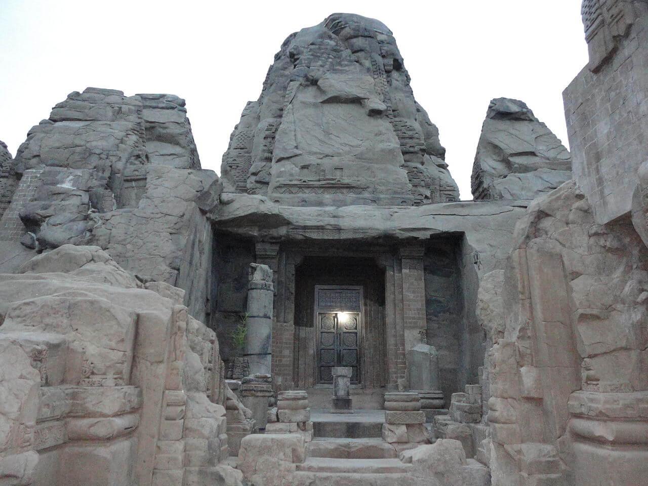 Colganj rock cut temple real image