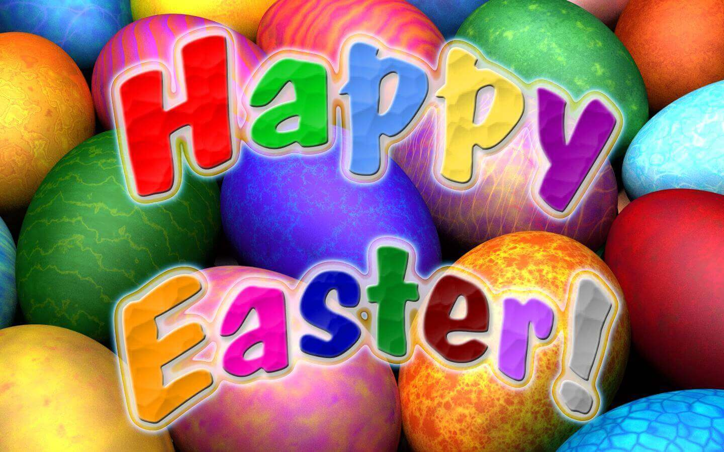 Colorful Easter wallpaper free download