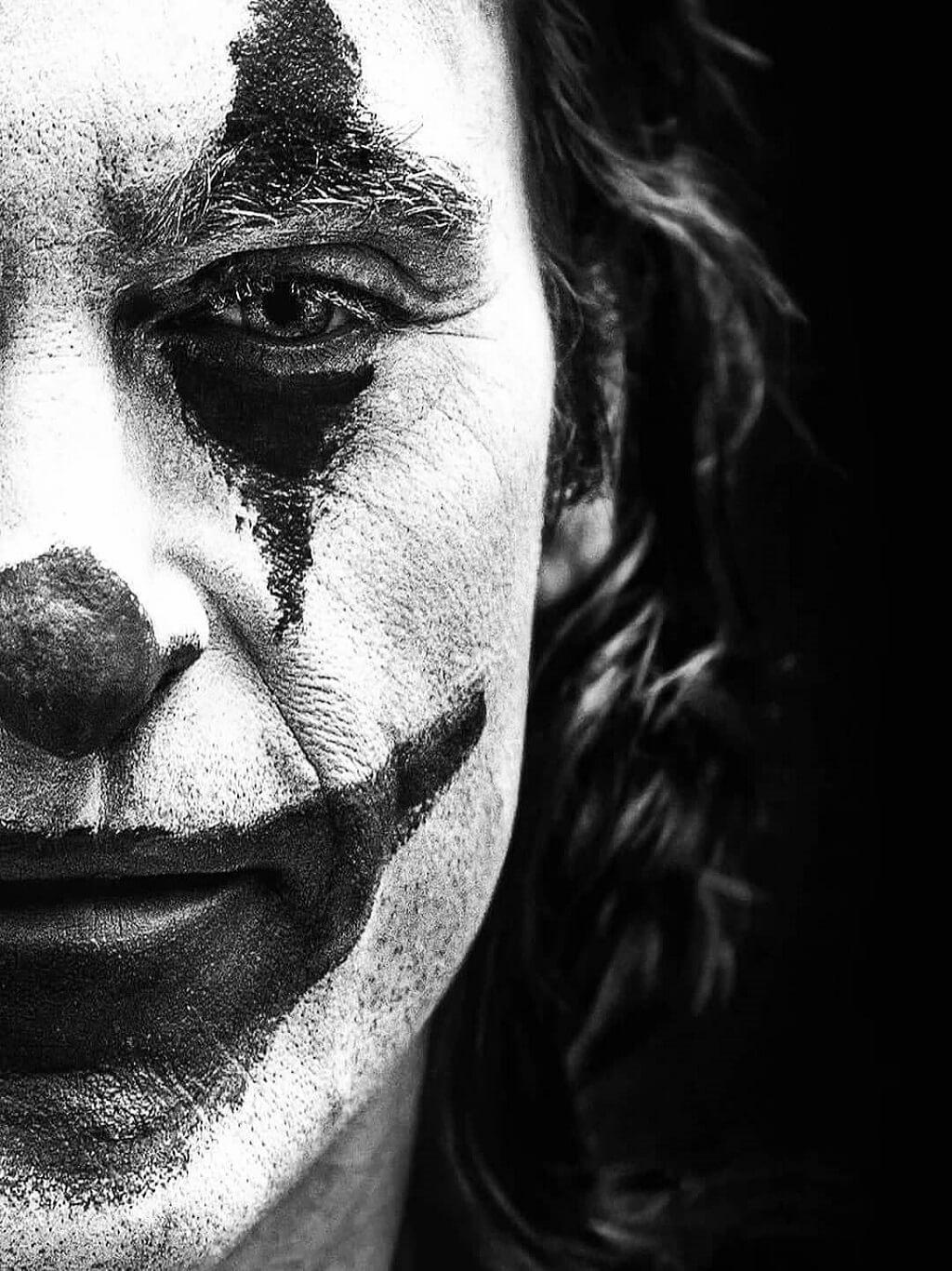 Crazy Joker face cut closeup snapshot iPad pro