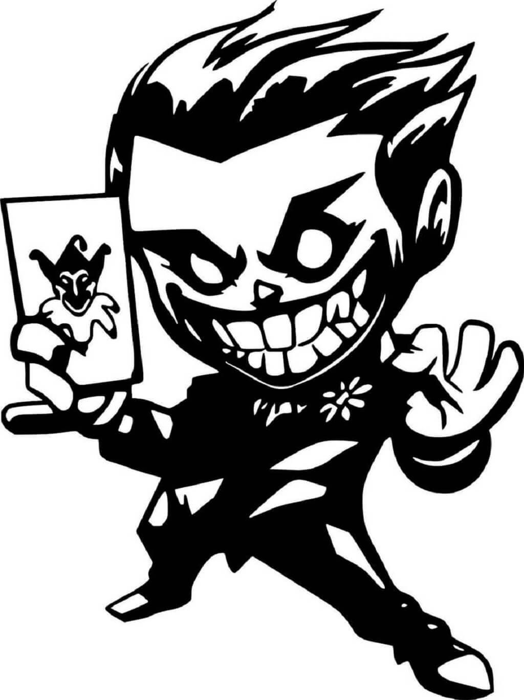 Cute Chibi Joker white black android wallpaper