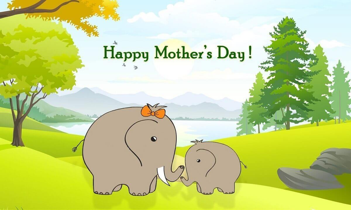 Cute happy mothers day wallpaper in high definition