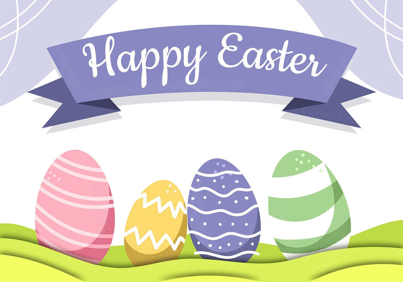 Happy Easter Wallpaper Vector