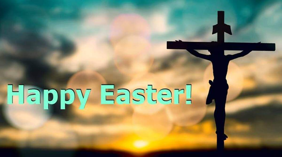 Happy Easter Wallpaper with Jesus