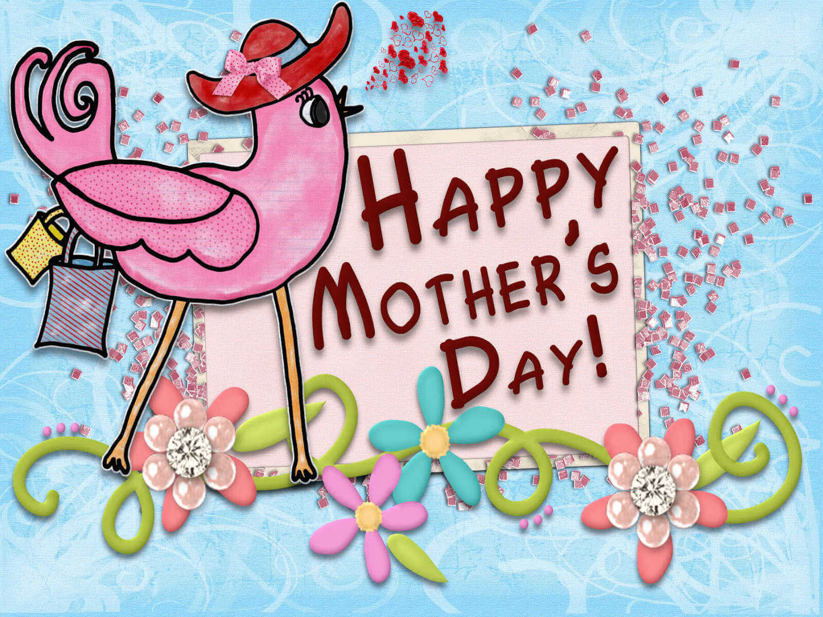 Happy Mothers Day cartoon wallpaper animated