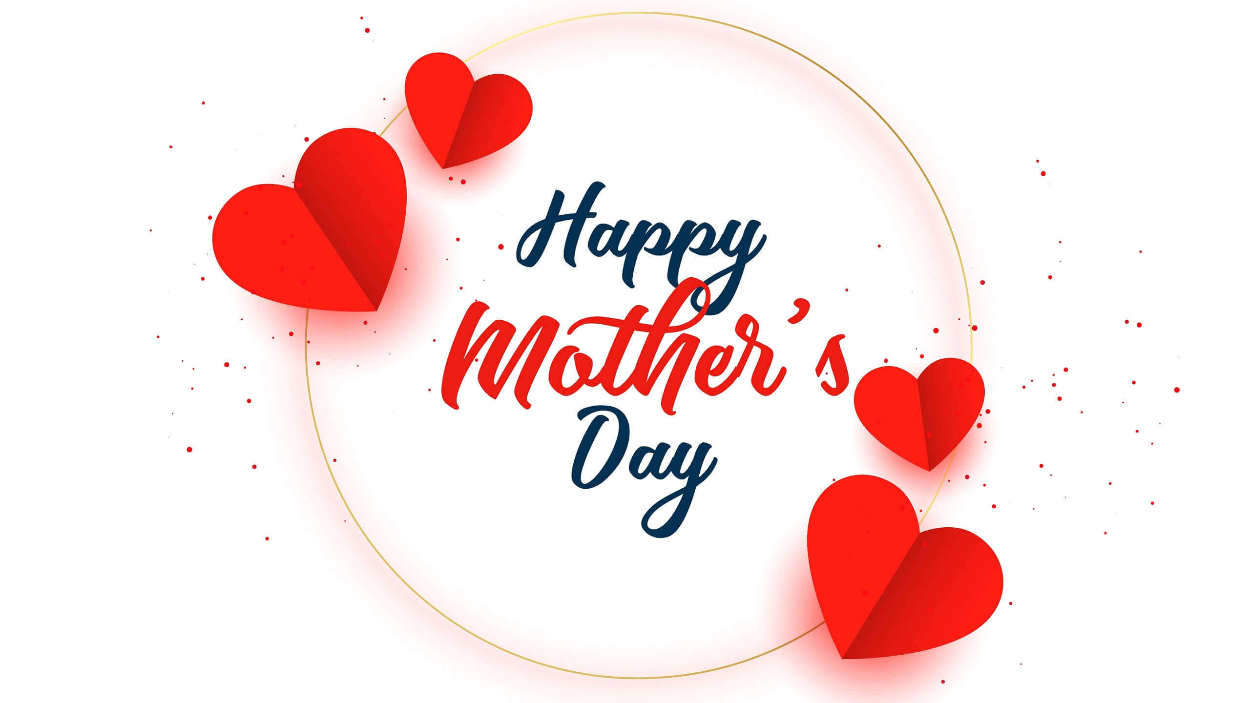 Happy Mothers Day image with Heart Bubble