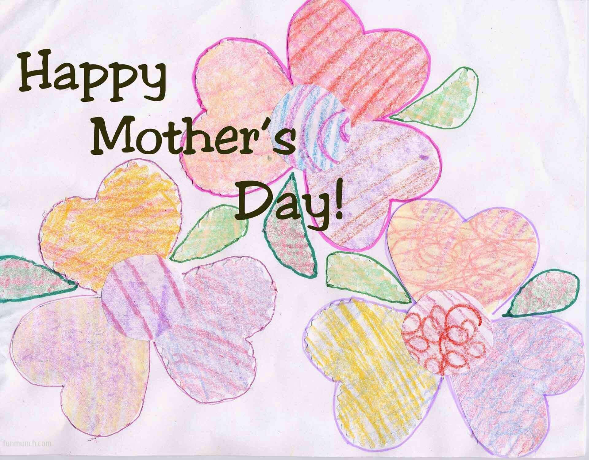 Happy Mothers Day sketch painting for drawing competition