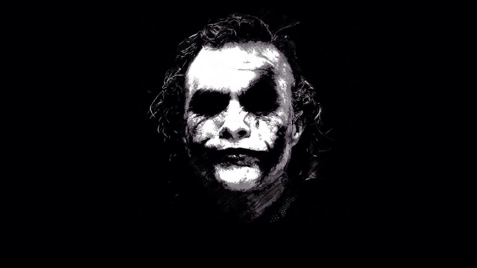 High definition image of Joker black and white logo