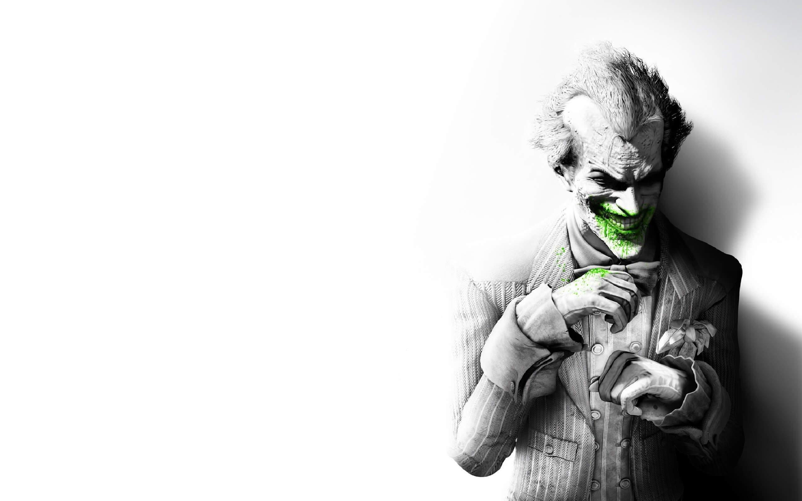 Joker black white with green