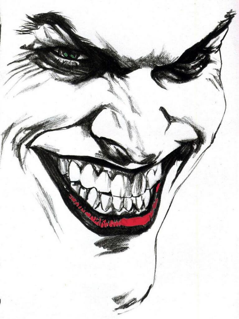 Joker face black white red for cellphones