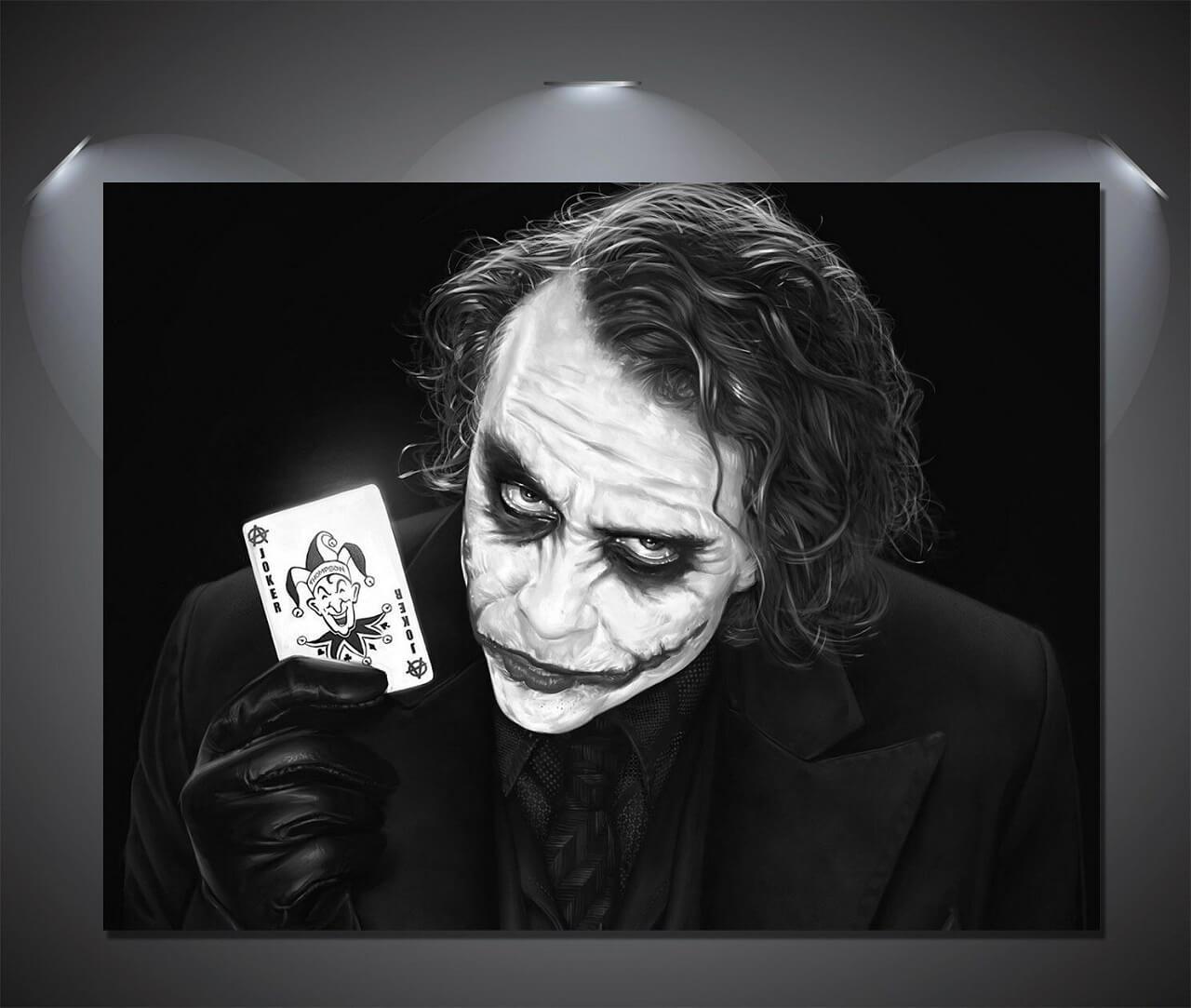 Joker holding joker card picture