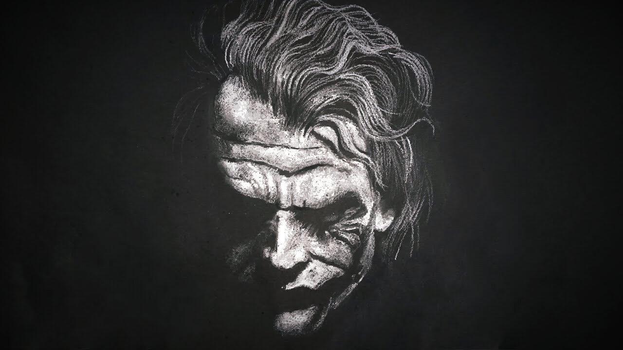 Joker YouTube thumbnail white black