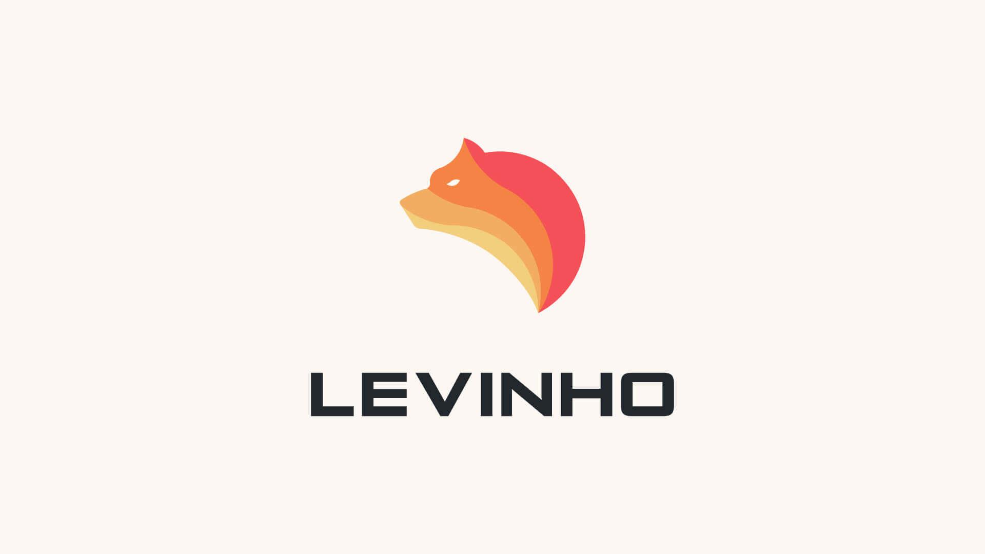 Levinho logo light desktop background