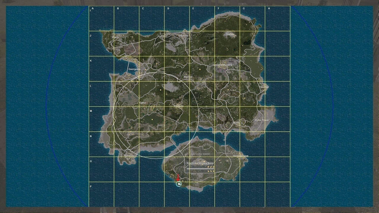 PLAYERUNKNOWNS BATTLEGROUNDS Erangel Map