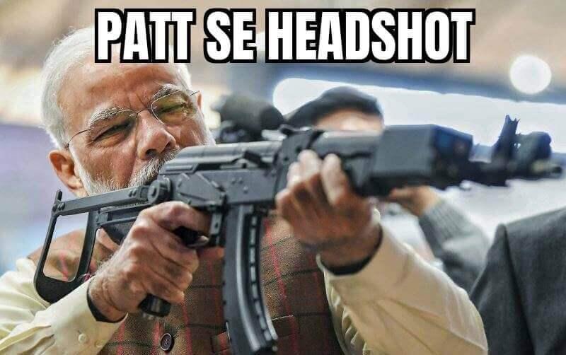 PM Modiji Pubg Patt se Headshot Image