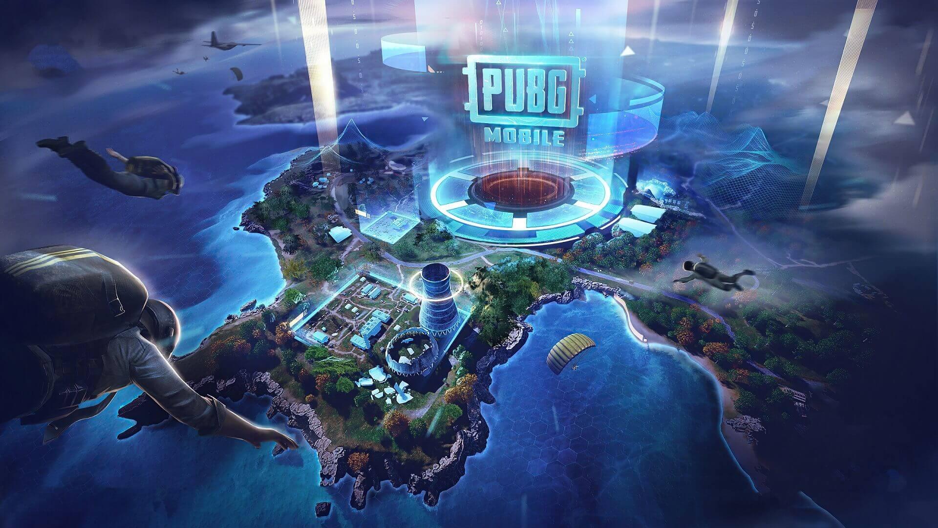 PUBG Mobile Skydiving Map Drop Zone wallpaper