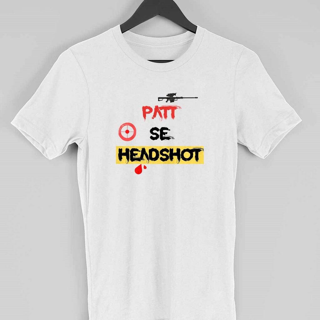 Patt se headshot T shirt white picture