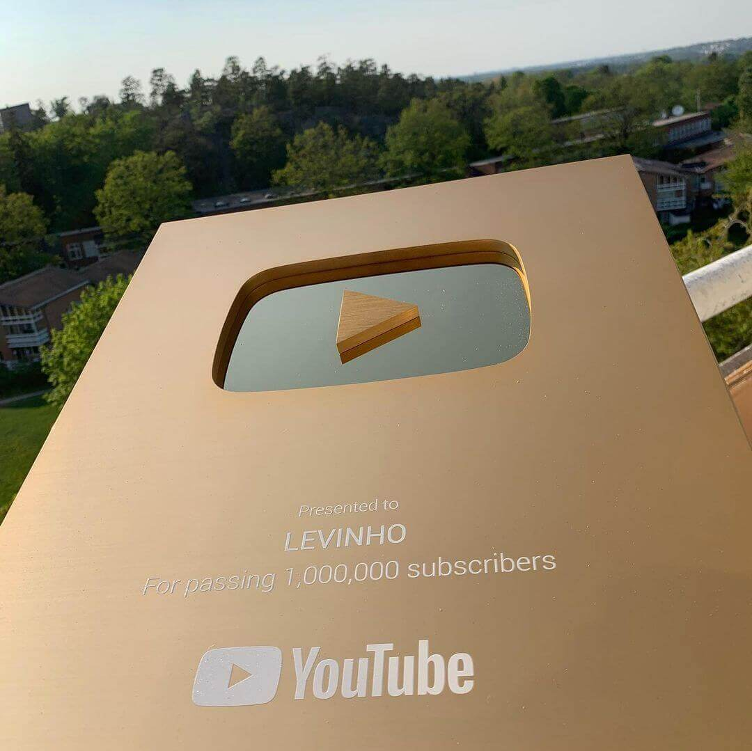 Photo of Levinho YouTube golden play button