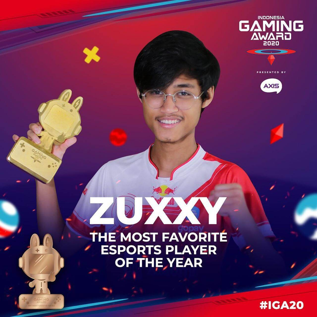 Picture of BTR Zuxxy awarded the most favourite esports player of 2020