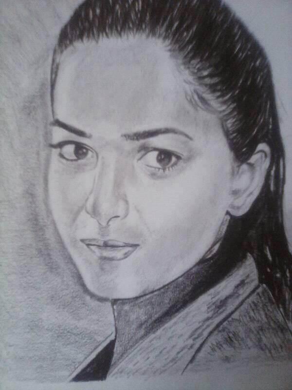 Pooja Khatri pubg girl sketch pencil art picture