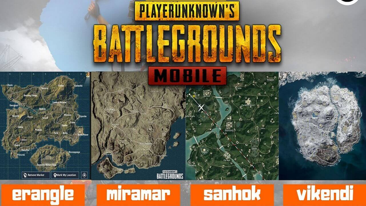 Pubg map names image for YouTube Thumbnail