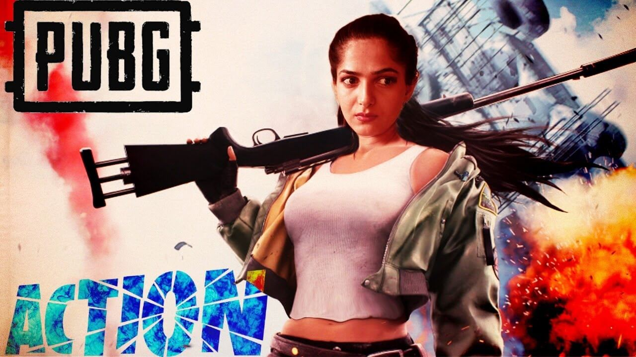 Pubg pooja gaming wallpaper girl holding AWM sniper rifle