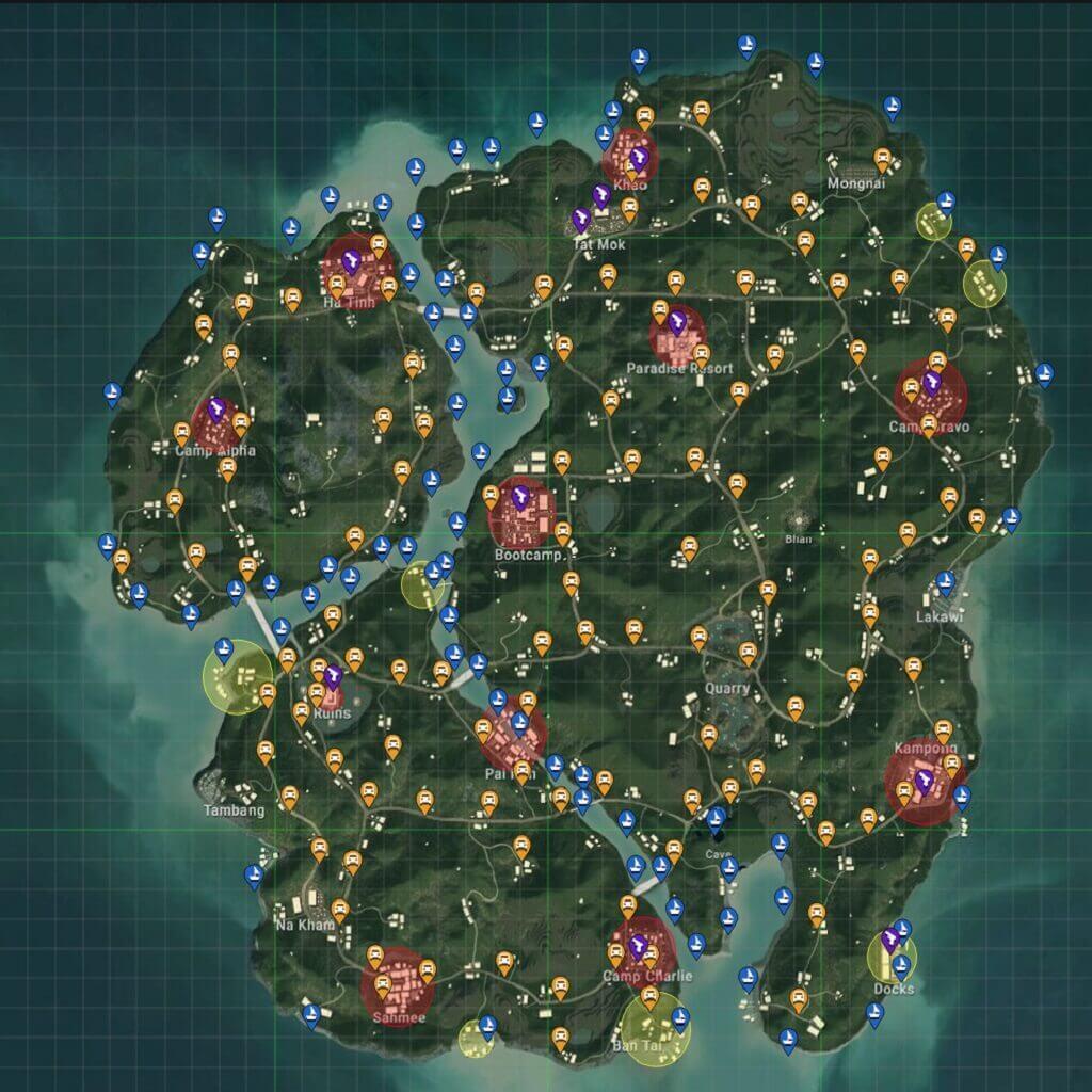 Sanhok map analysis