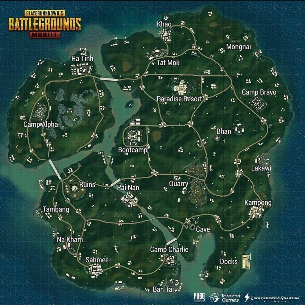 Sanhok pubg map picture
