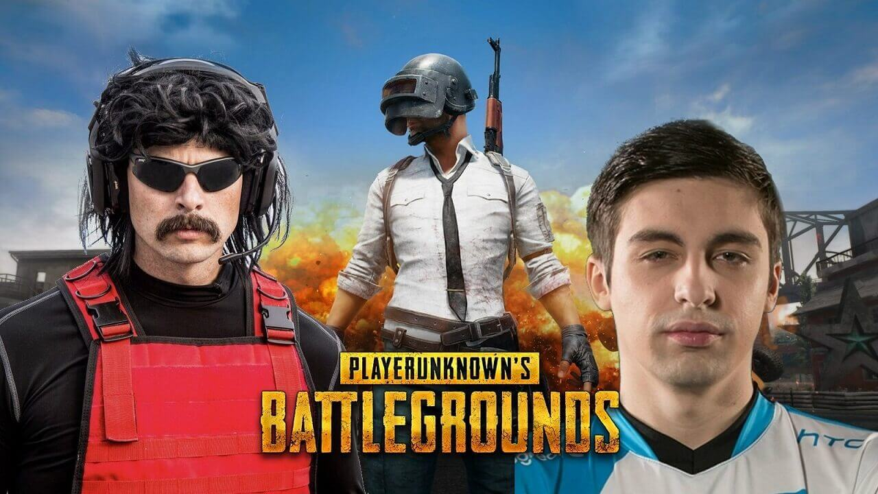 Shroud pubg wallpaper with Dr Disrespect