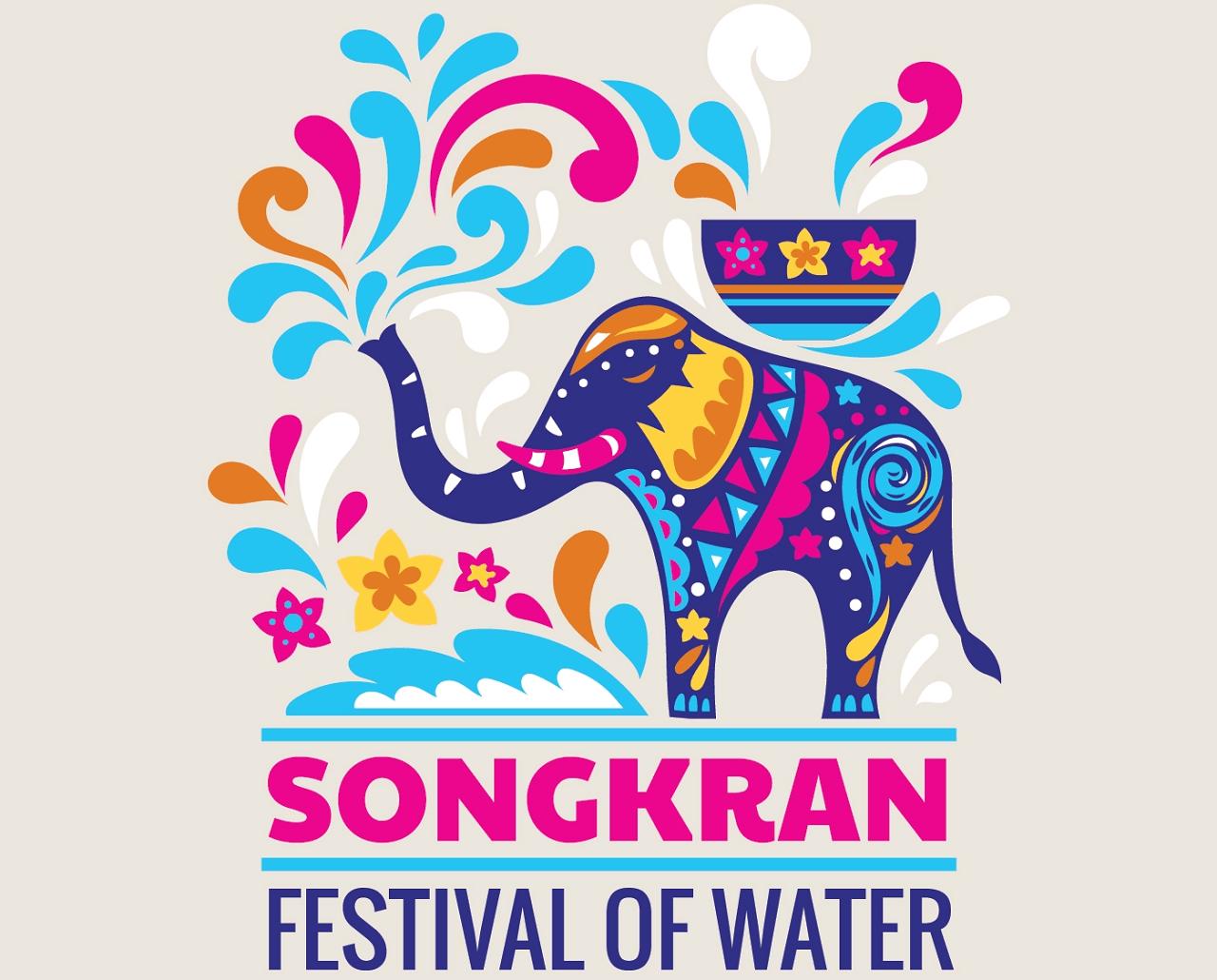 Songkran day Thai festival art