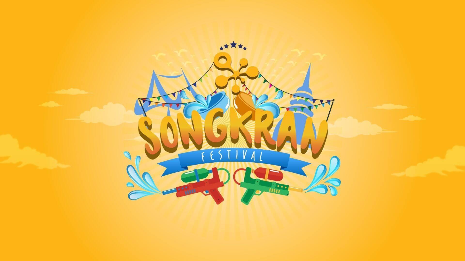 Songkran festival desktop background in HD