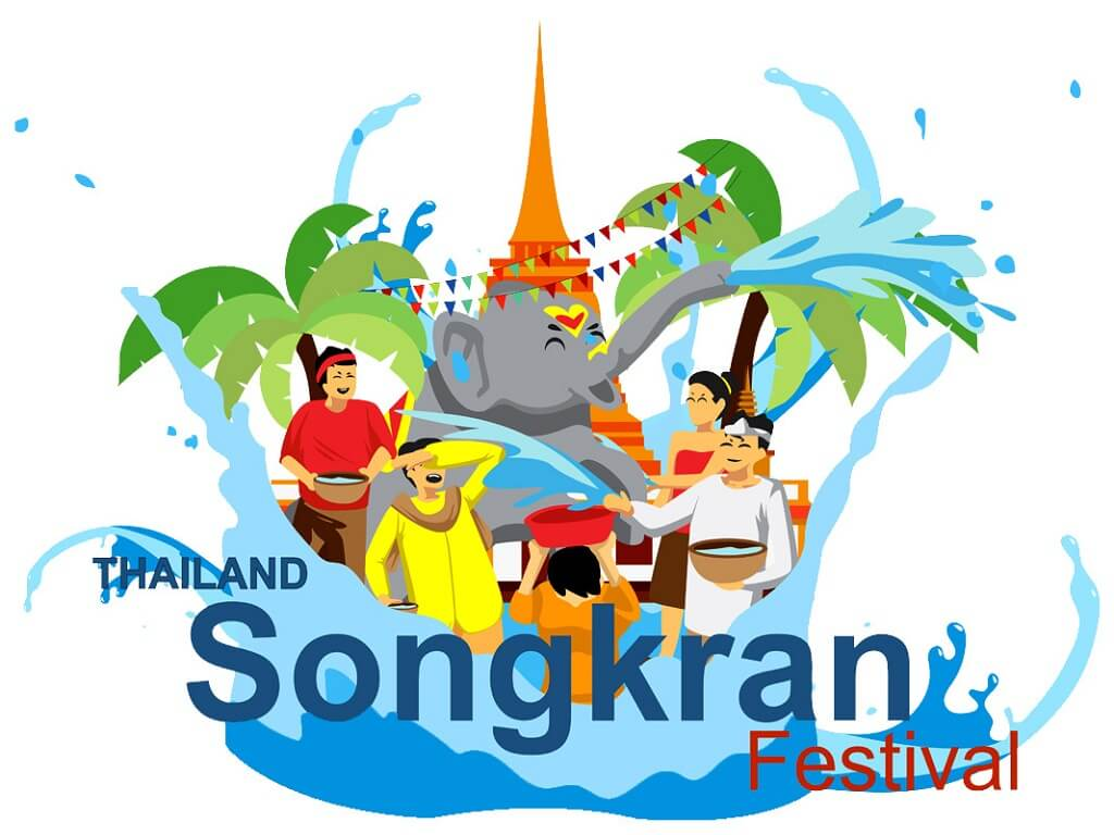 Songkran festival free clipart