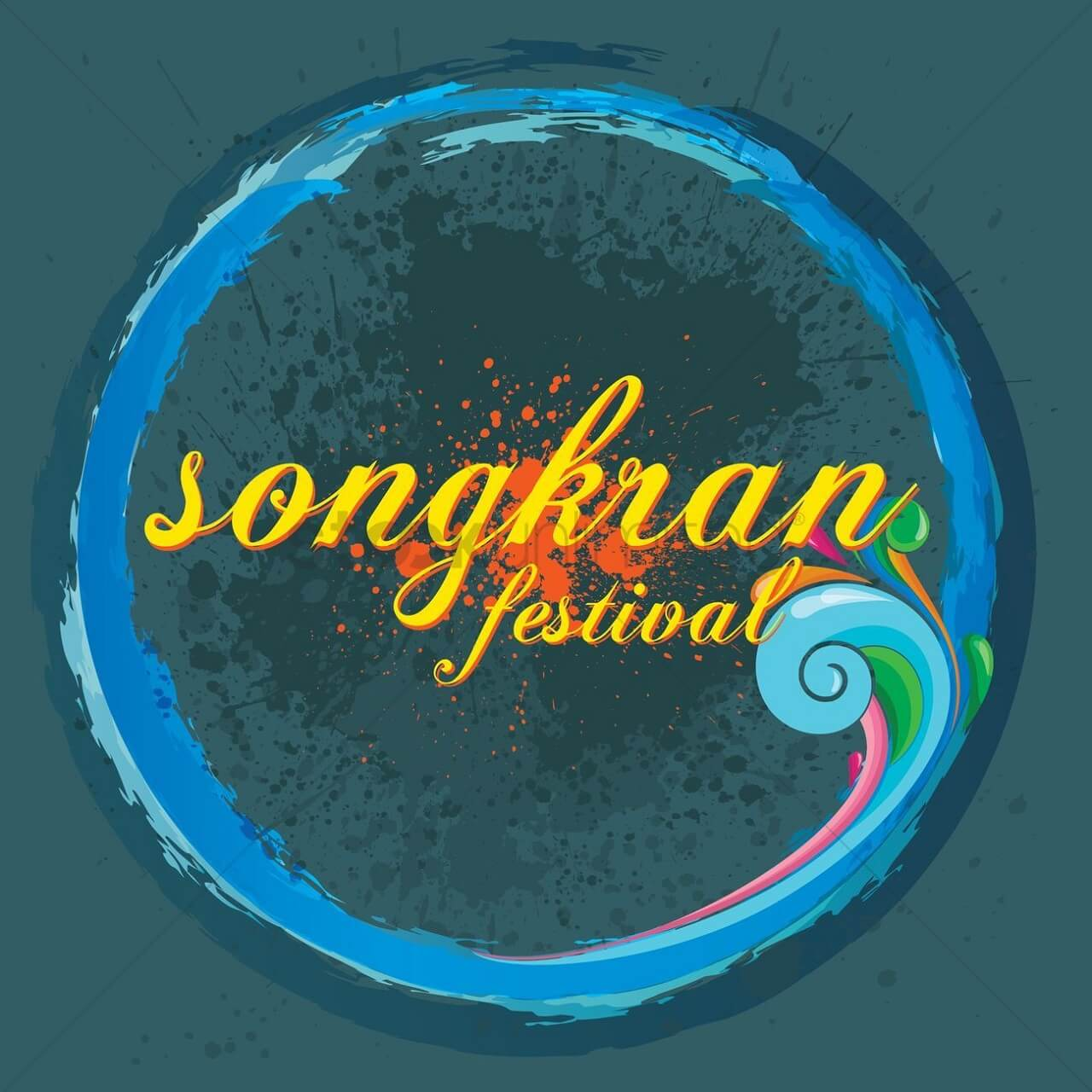 Songkran festival wallpapers for WhatsApp 1280x1280px