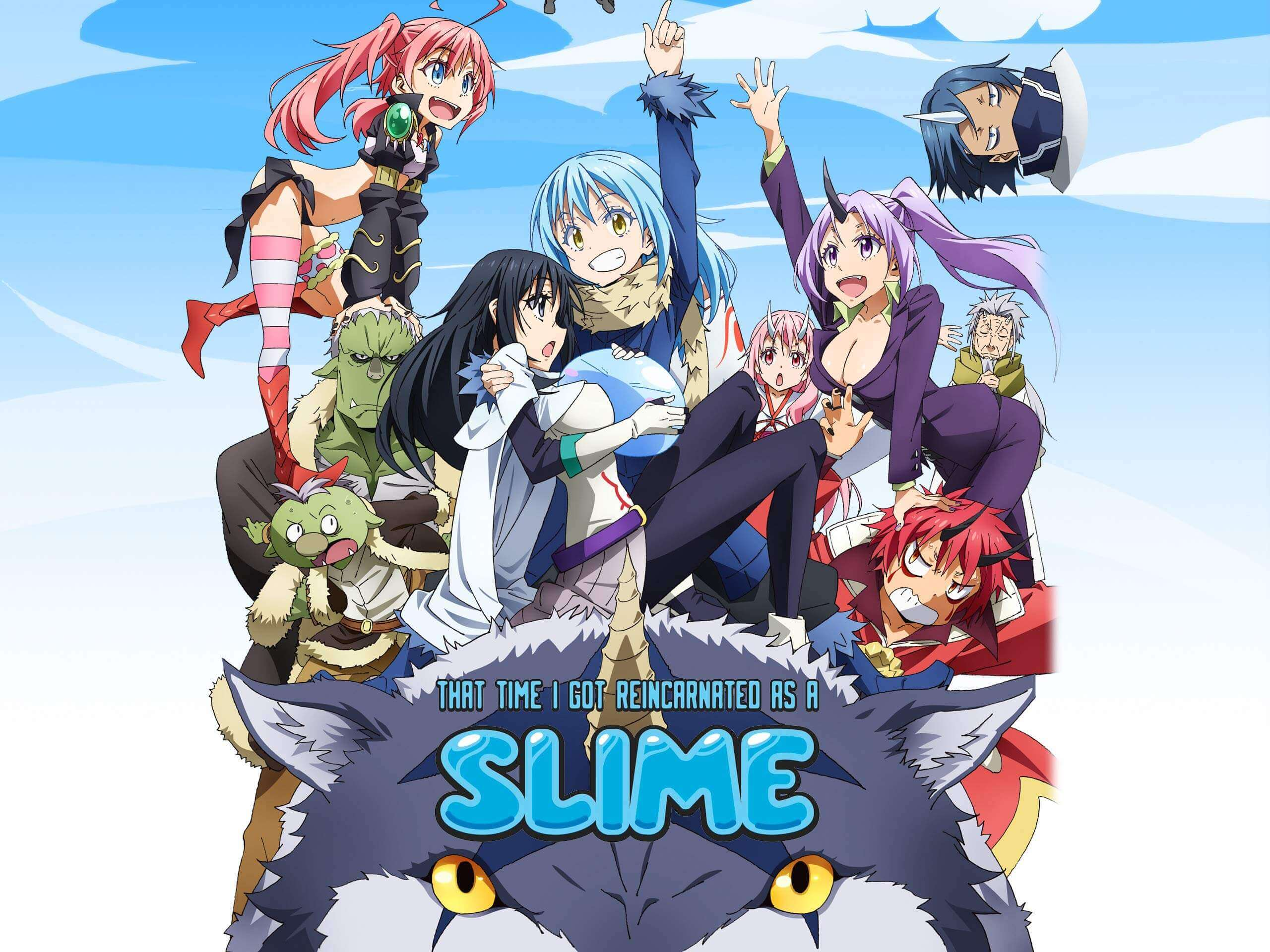 That time I got reincarnated as a slime characters wallpaper