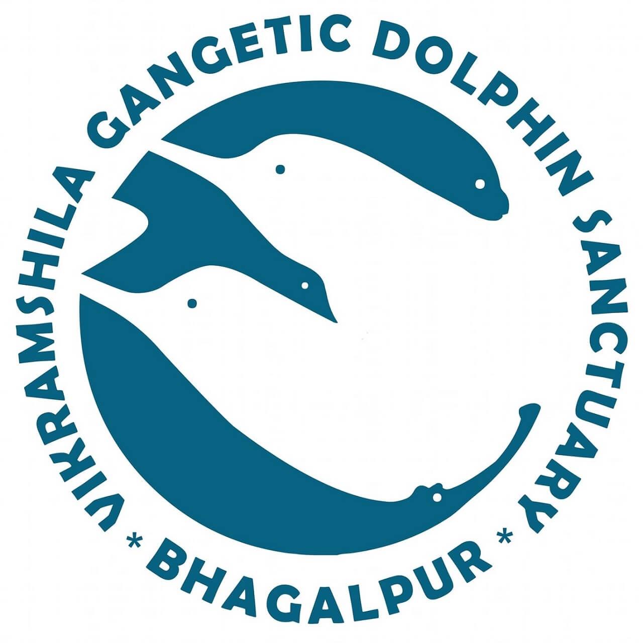 Vikramshila Gangetic Dolphin Sanctuary Bhagalpur logo