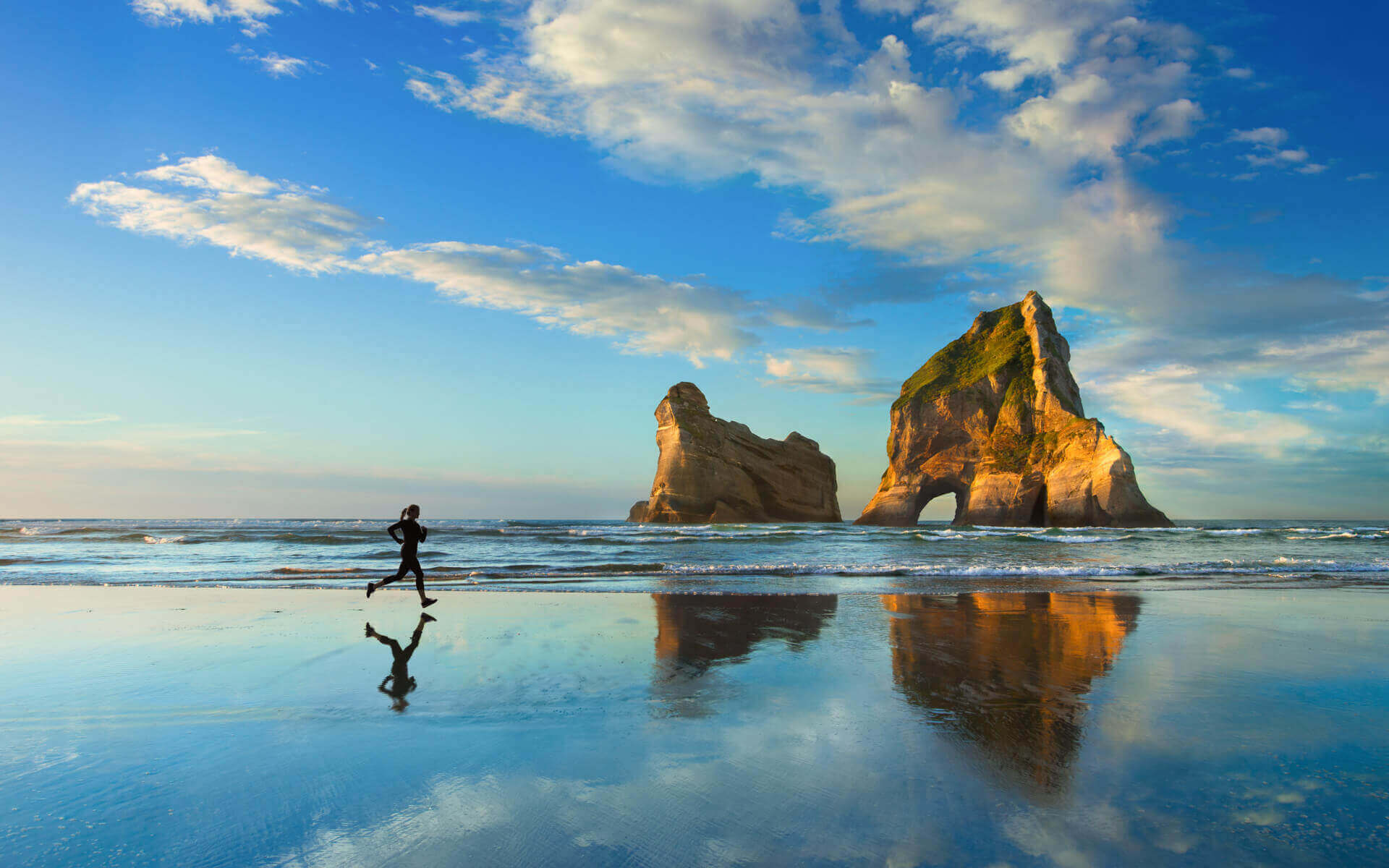 Windows 10 Wallpaper Archway Islands Wharariki Beach Golden Bay New Zealand