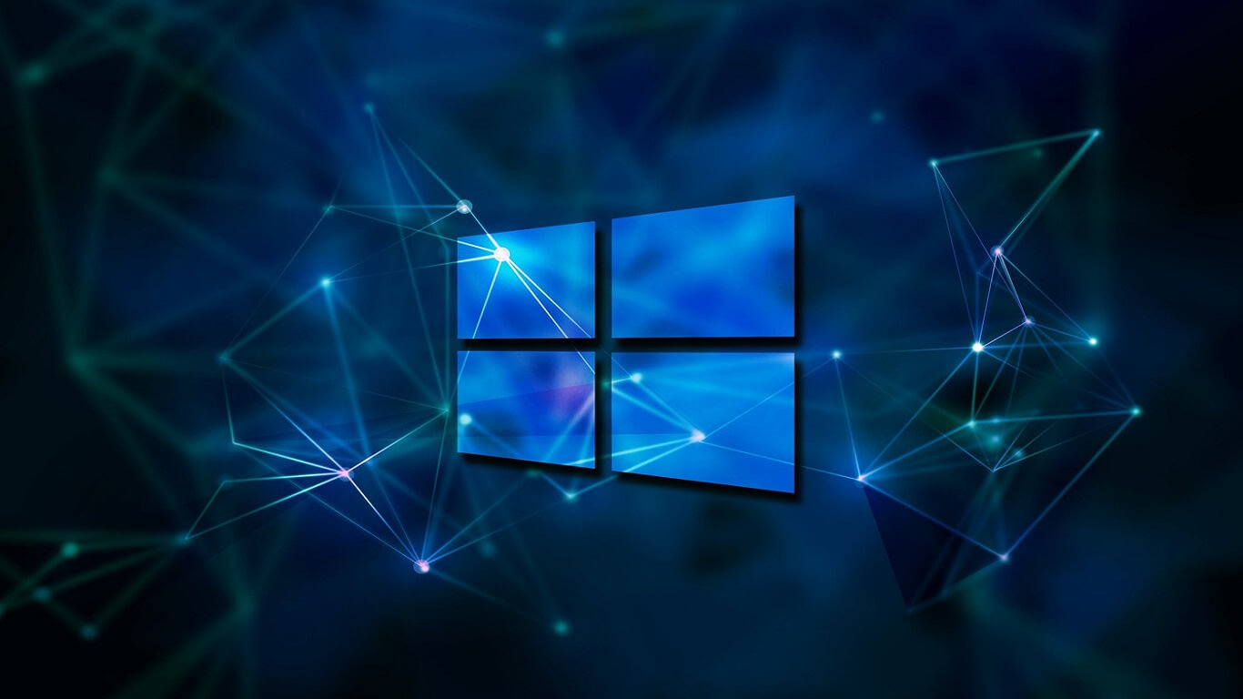 Windows blue background for laptop