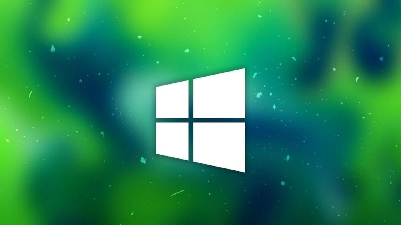 Windows default wallpaper green background